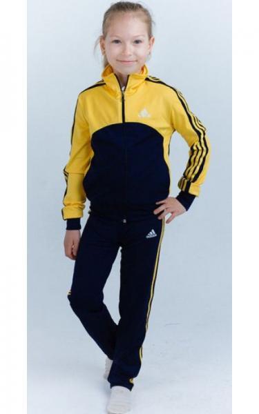 12106 Спорт. костюм д/дев  ЛЮДА (т.синий+желтый)