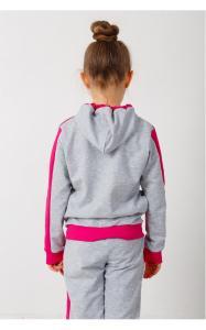 Фото Спортивная одежда 41-13 Костюм спортивный МОТЫЛЬКИ двунитка(серый+малина)