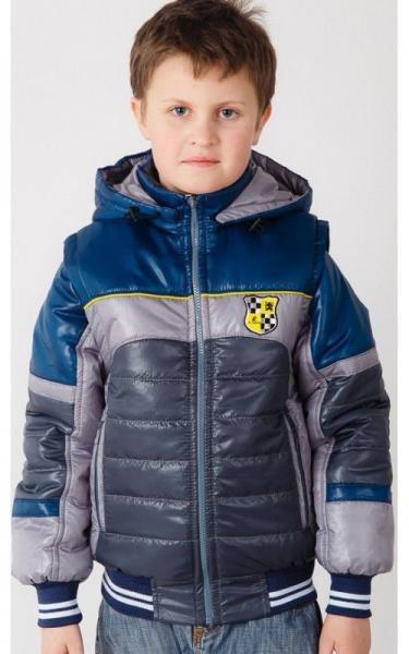 01003 Жилет-куртка ТИМКА (серый+м.волна)
