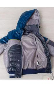 Фото Верхняя одежда (весна-осень) 01003 Жилет-куртка ТИМКА (серый+м.волна)