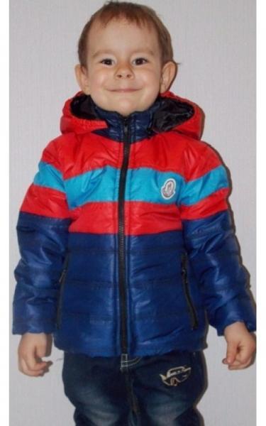 1003160 Куртка БАРНИ весенне-осенняя (т.синий+красный+голубой)