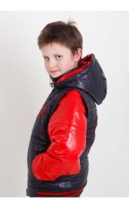 Фото Верхняя одежда (весна-осень) 09024 Куртка-жилет ВЛАДИК демисезонная (красный+синий)