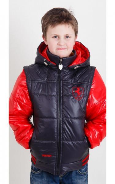 09024 Куртка-жилет ВЛАДИК демисезонная (красный+синий)