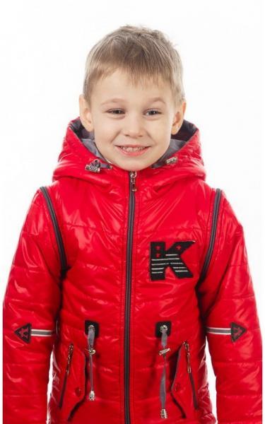 270042 Куртка-жилет НАШИВКА демисезонная (красный)