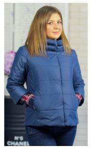 Фото Демисезонная одежда 30-041 Куртка ЛАЙМА демисезонная женская(джинс)