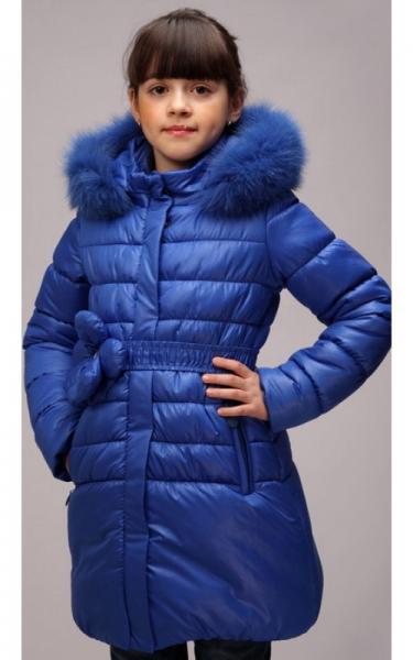12228 Куртка ЮЛЯ зима д/дев(синий электрик)
