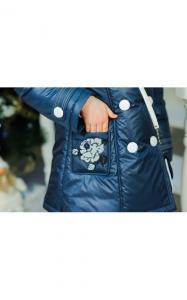 Фото Верхняя одежда (весна-осень) 0283 Пальто ЕВА с сумочкой (джинс)