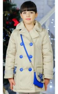 Фото Верхняя одежда (весна-осень) 0284 Пальто ЕВА с сумочкой (крем)