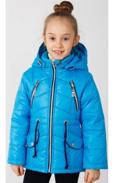 0408 Куртка(деми) Даша д/дев (голубой)