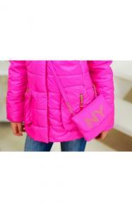 Фото Верхняя одежда (весна-осень) 12128 Куртка СЕЛИН демисезонная д/дев(розовый)