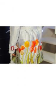 Фото Верхняя одежда (весна-осень) 12121 Плащ МИЛКИ демисезонный д/дев(принт)