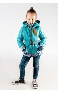 Фото Верхняя одежда (весна-осень) 1247 Куртка Женька д/дев (бирюза)