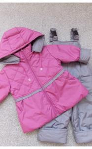 Фото Верхняя одежда (весна-осень) 1803162  Комплект КУКОЛКА весенне-осенний (фиолетовый+серый)