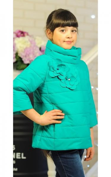 30-036 Куртка ЛАЙМА демисезонная д/дев(бирюза)