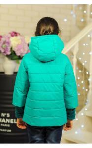 Фото Верхняя одежда (весна-осень) 30-036 Куртка ЛАЙМА демисезонная д/дев(бирюза)