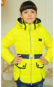 Фото Верхняя одежда (весна-осень) 3012 Куртка АНЖЕЛА демисезонная д/дев (желтый)