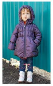 Фото Верхняя одежда (весна-осень) 7031610 Пальто МАВРА демисезонное д/дев (фиолетовый)