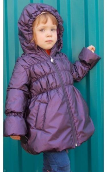 7031610 Пальто МАВРА демисезонное д/дев (фиолетовый)