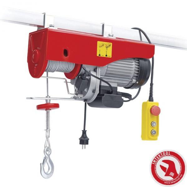 Лебедка электрическая 220/230В, 500Вт, 125/250 кг, трос 3.0мм*12м INTERTOOL GT1481