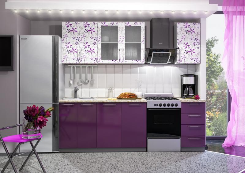 Фото Кухни готовые Кухня с Фотопечатью-Флора 1,6 м(DCB)