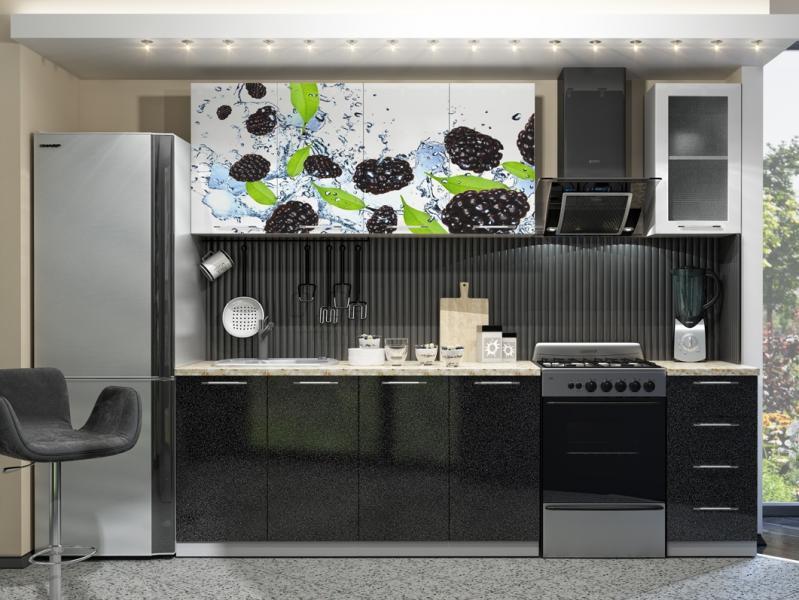 Фото Кухни готовые Кухня с Фотопечатью-Ежевика 2.0 м(DCB)