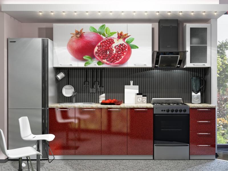 Кухня с Фотопечатью-Гранат 2.0 м(DCB)