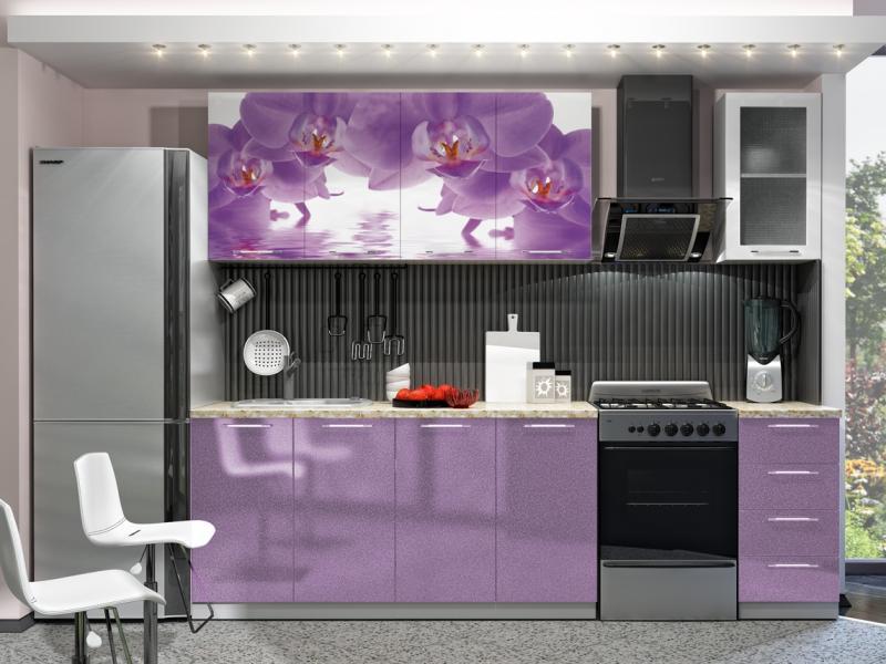 Кухня с Фотопечатью-Орхидея 2.0 м(DCB)