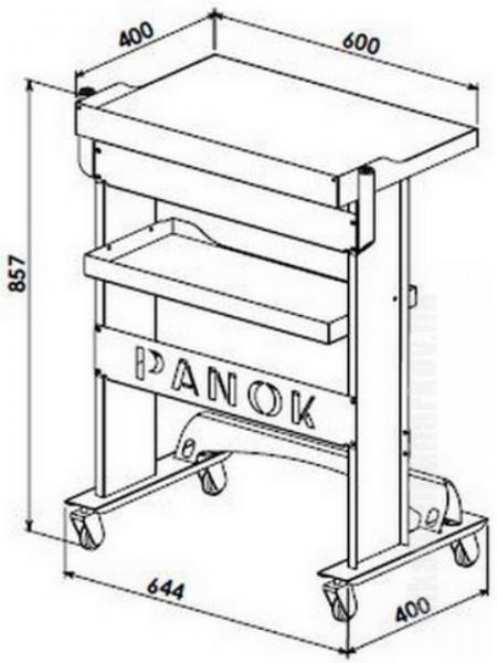 Фото Для стоматологических клиник, Мебель медицинская и УФ-камеры. Панок-1 прямоугольный (столик врача)