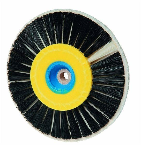 Щетка натуральная щетина+льняная прослойка на шлифмотор D80