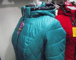 Фото Куртки демисезонные «SOFINI» Куртка женская «Кнопка», цвет - бирюза