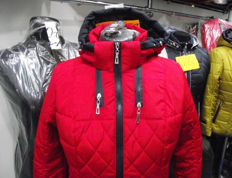 Куртка женская «Мишель», цвет – красный (материал – канада)