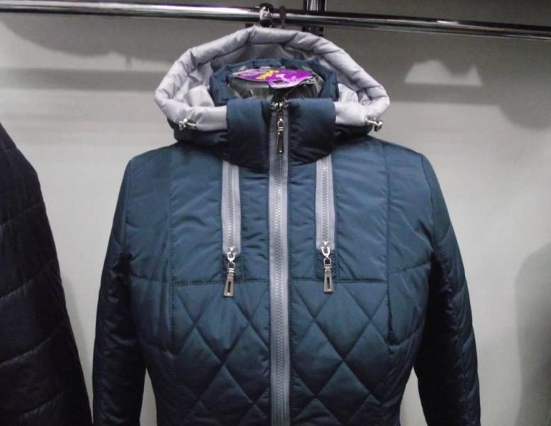 Куртка женская «Мишель», цвет – волна (материал – канада)