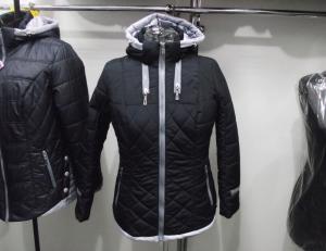 Фото Куртки демисезонные «SOFINI» Куртка женская «Мишель», цвет – темно-синий  (материал – канада)