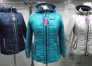 Фото Куртки демисезонные «SOFINI» Куртка женская «МТ-21», цвет – бирюза