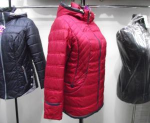 Фото Куртки демисезонные «SOFINI» Куртка женская «МТ-27», цвет – бордо