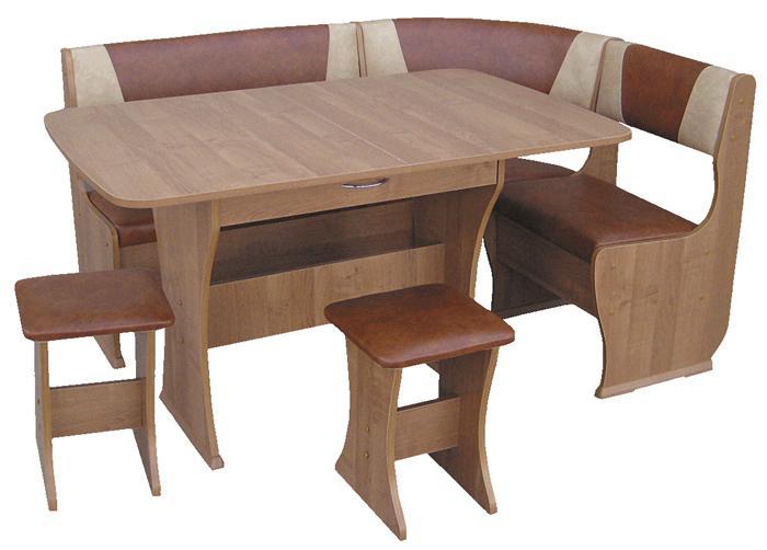Кухонный уголок КУ-1 (с раскладным столом)
