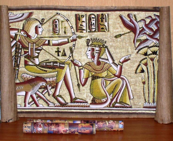 Папирус настенный с египетским узором *4508