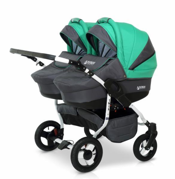 Детская универсальная коляска для двойни 2в1 Verdi Twin