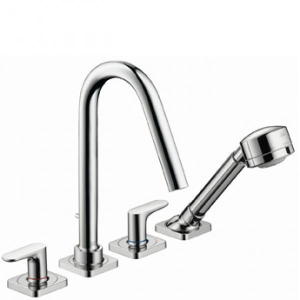 Смеситель Axor Citterio M для ванны, на 4 отверстия, монтаж на плитку, 34454000