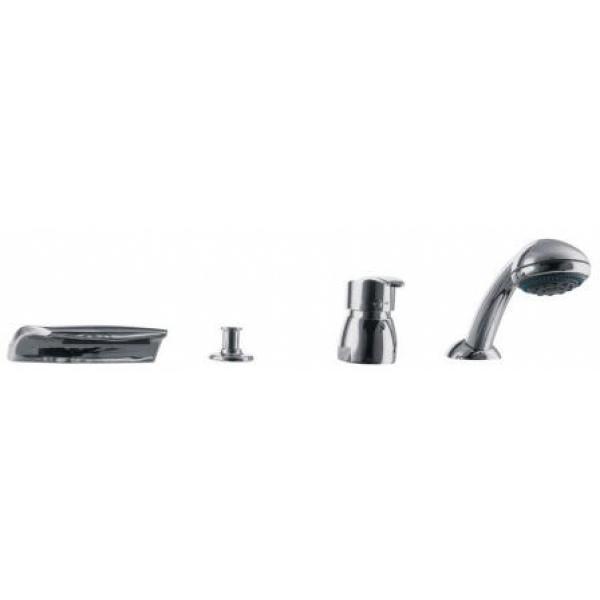 Смеситель для ванны скрытого монтажа, 4 отв. E.C.A. Mix Cubic 102101109 (М 161)