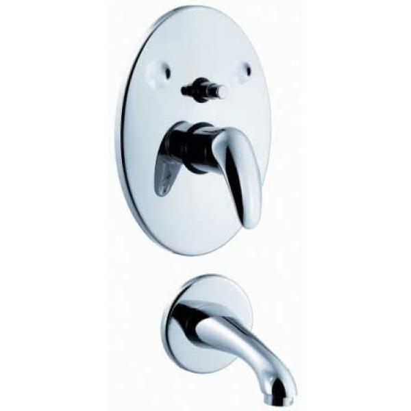 Смеситель для ванны скрытого монтажа E.C.A. MIX P 102102352 (М 186)