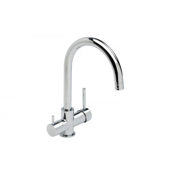 Смеситель для кухни с функцией подключения фильтра для питьевой воды E.C.A. Dual Flow 102118005 (М 517)