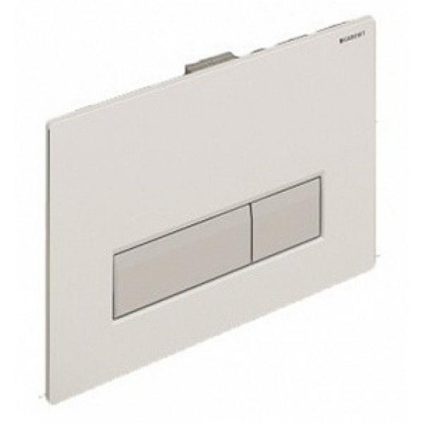 Клавиша смыва Geberit Sigma40, белый алюминий со встроенной системой удаления запаха 115.600.KQ.1