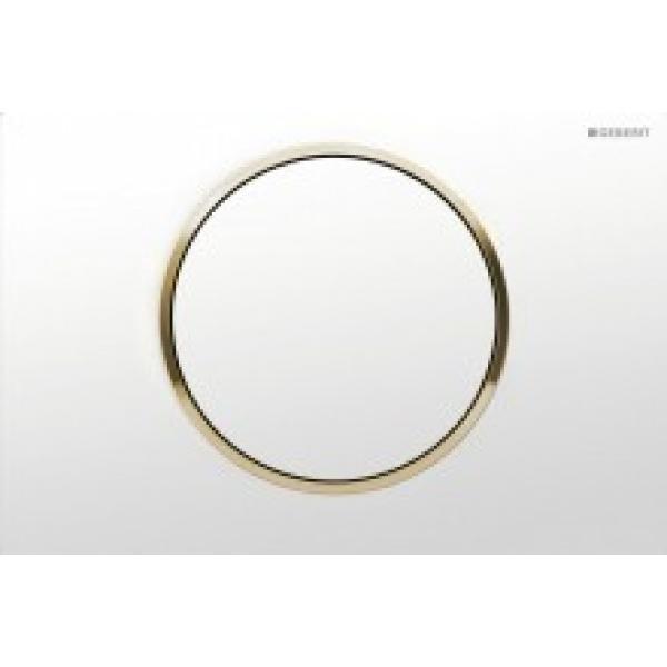 Клавиша смыва Geberit Sigma10 белый / золото 115.758.KK.5