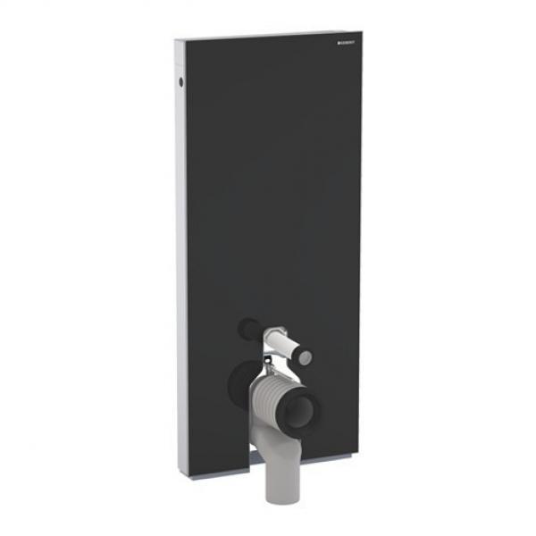 Geberit 131.033.SJ.1 Monolith для напольного унитаза, черное стекло алюминий, 114 см