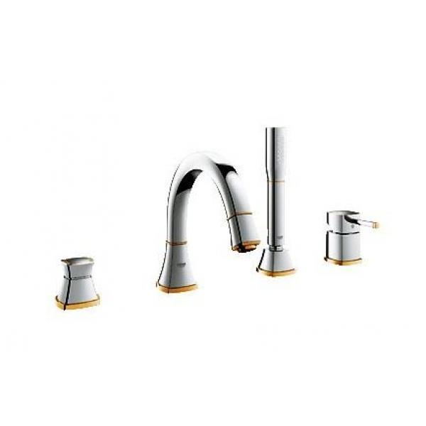 Смеситель для ванны на 4 отверстия Grohe Grandera 19936IG0 хром/золото