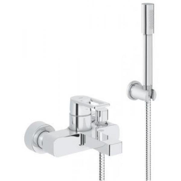 Смеситель для ванны Grohe Quadra 32639000 с душевым гарнитуром хром