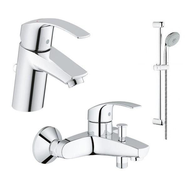 Набор смесителей для ванны Grohe Eurosmart 123238 (33265002+33300002+27927000)