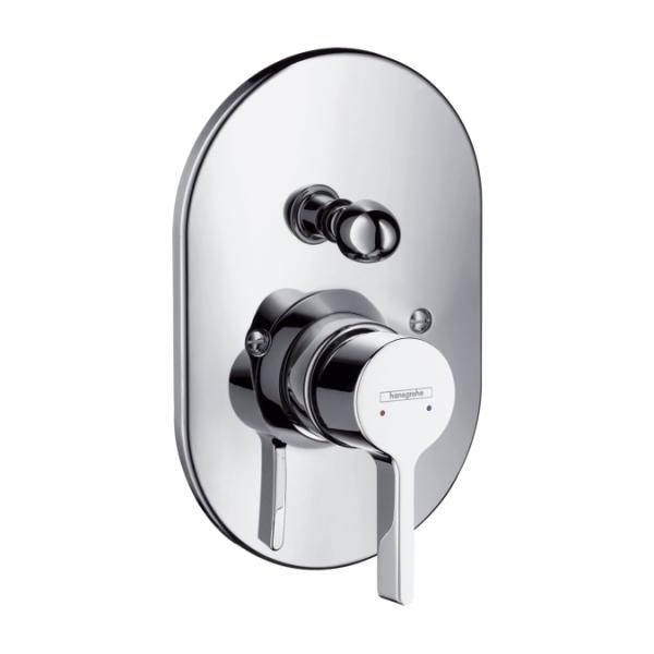 Смеситель для ванны Hansgrohe Metris S 31467000 скрытый монтаж хром