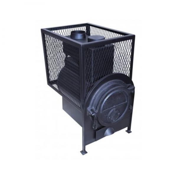 ПК-18П Банная печь с квадратной сеткой и топкой в сауне/бане